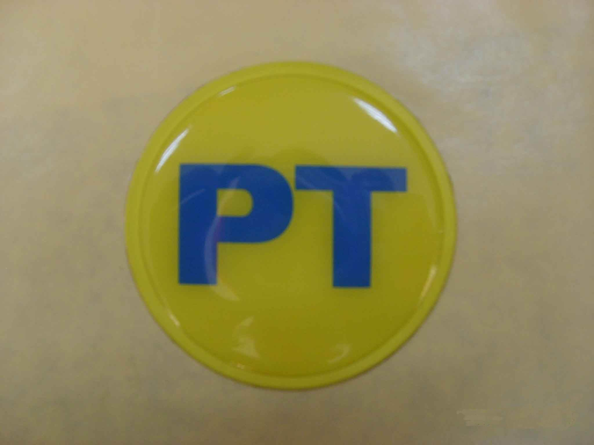PT Lettering Epoxy Resin Sticker in transparent background