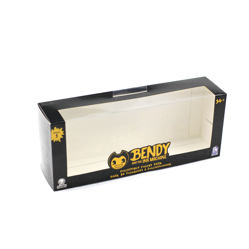 Window and Self-contained Transparent Hook Custom Glossy Finish Paper Box